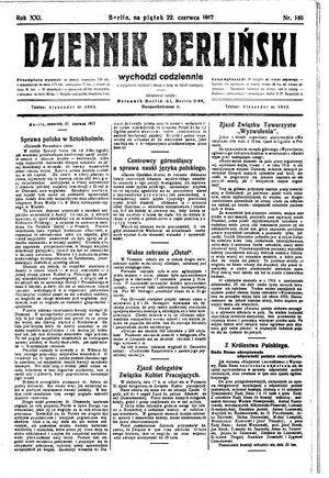 Dziennik Berliński on Jun 22, 1917