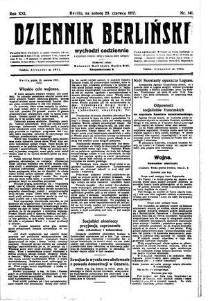 Dziennik Berliński on Jun 23, 1917