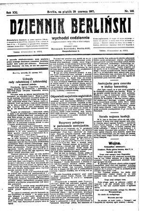 Dziennik Berliński vom 29.06.1917