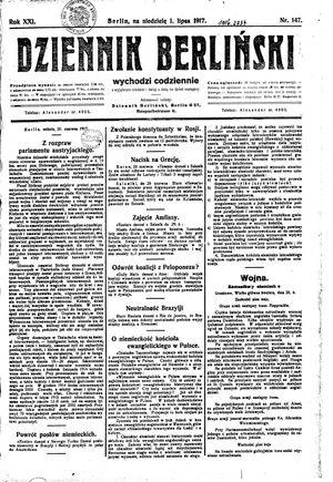 Dziennik Berliński vom 01.07.1917