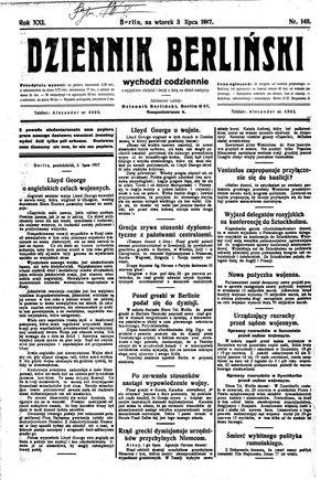 Dziennik Berliński vom 03.07.1917