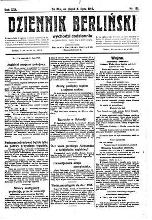 Dziennik Berliński vom 06.07.1917