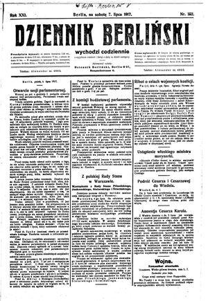 Dziennik Berliński vom 07.07.1917