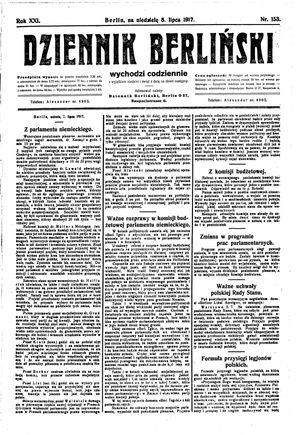 Dziennik Berliński vom 08.07.1917
