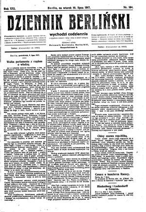 Dziennik Berliński vom 10.07.1917