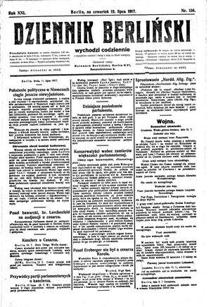 Dziennik Berliński vom 12.07.1917