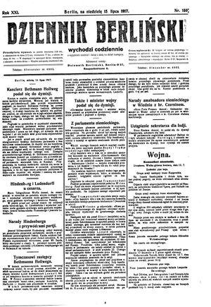 Dziennik Berliński vom 15.07.1917