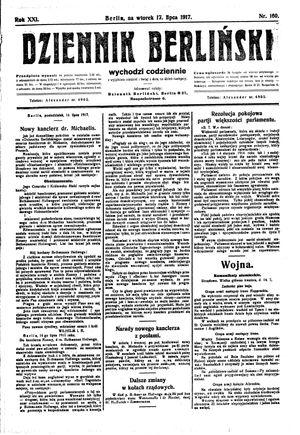 Dziennik Berliński vom 17.07.1917