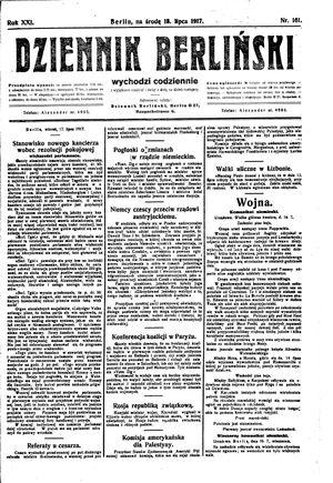 Dziennik Berliński vom 18.07.1917