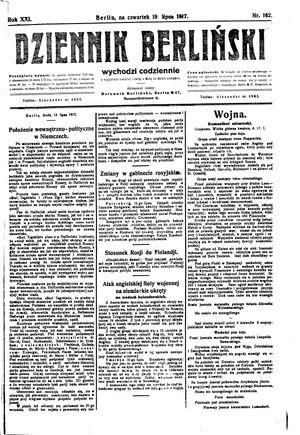 Dziennik Berliński vom 19.07.1917