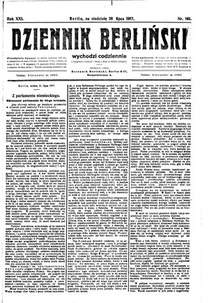 Dziennik Berliński on Jul 22, 1917