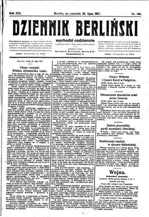 Dziennik Berliński vom 26.07.1917