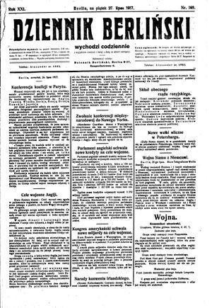 Dziennik Berliński vom 27.07.1917