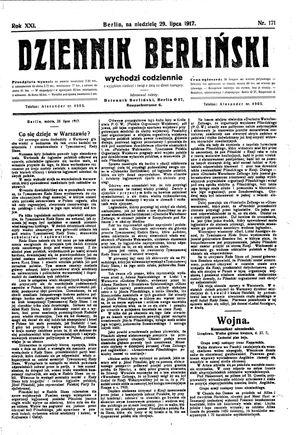 Dziennik Berliński vom 29.07.1917