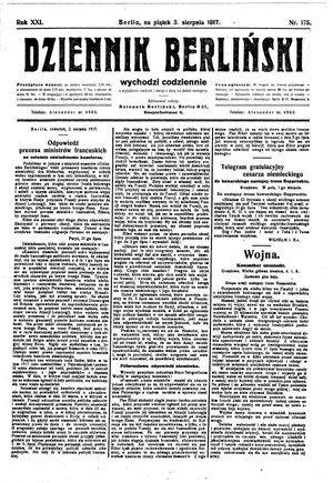 Dziennik Berliński vom 03.08.1917