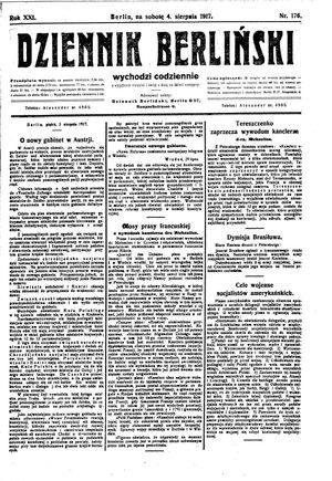 Dziennik Berliński vom 04.08.1917