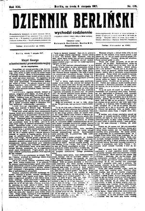 Dziennik Berliński vom 08.08.1917