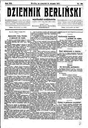 Dziennik Berliński vom 09.08.1917
