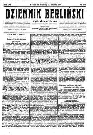 Dziennik Berliński on Aug 12, 1917