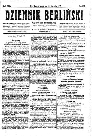 Dziennik Berliński on Aug 16, 1917