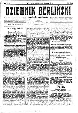 Dziennik Berliński vom 19.08.1917