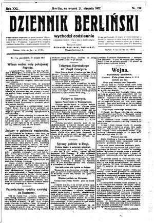 Dziennik Berliński vom 21.08.1917