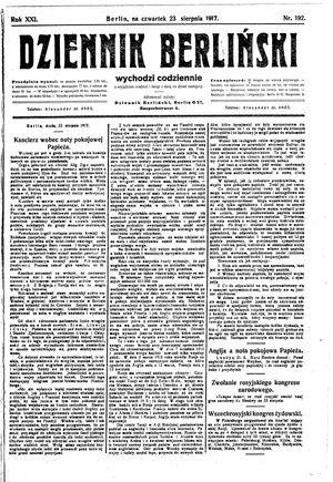 Dziennik Berliński on Aug 23, 1917