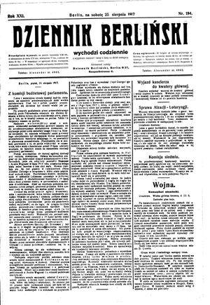 Dziennik Berliński vom 25.08.1917