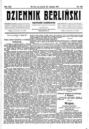 Dziennik Berliński vom 28.08.1917