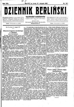 Dziennik Berliński vom 29.08.1917