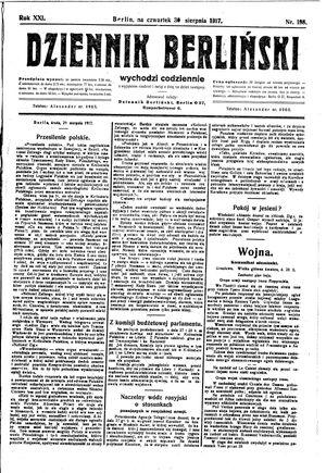 Dziennik Berliński vom 30.08.1917