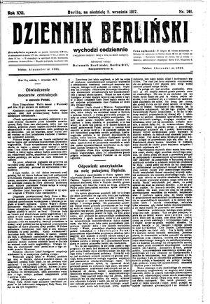 Dziennik Berliński on Sep 2, 1917