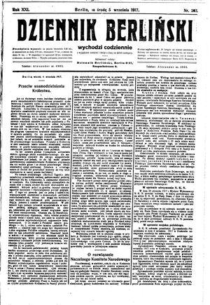 Dziennik Berliński vom 05.09.1917