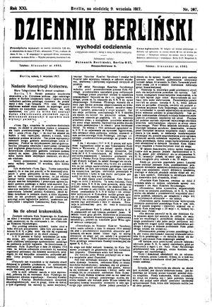 Dziennik Berliński vom 09.09.1917