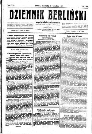 Dziennik Berliński vom 12.09.1917