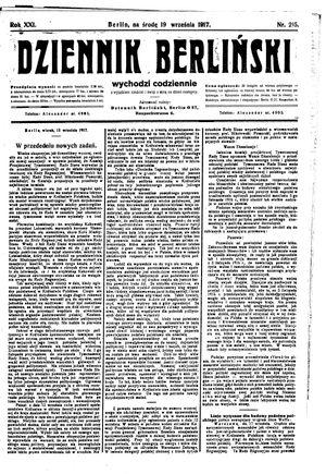 Dziennik Berliński vom 19.09.1917