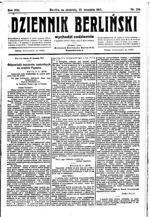 Dziennik Berliński vom 23.09.1917