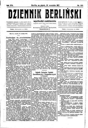 Dziennik Berliński vom 28.09.1917