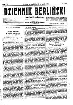 Dziennik Berliński vom 30.09.1917