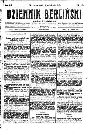 Dziennik Berliński vom 05.10.1917