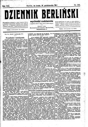 Dziennik Berliński vom 10.10.1917