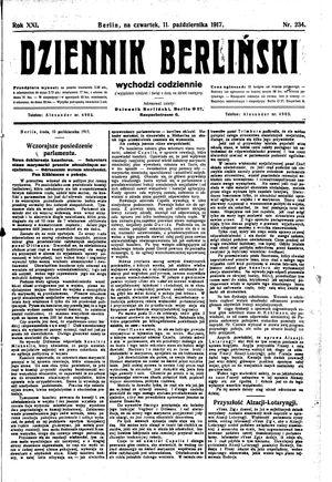 Dziennik Berliński vom 11.10.1917