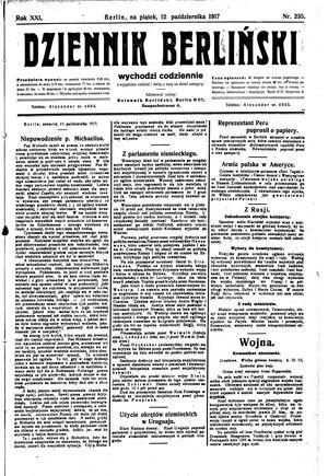 Dziennik Berliński vom 12.10.1917