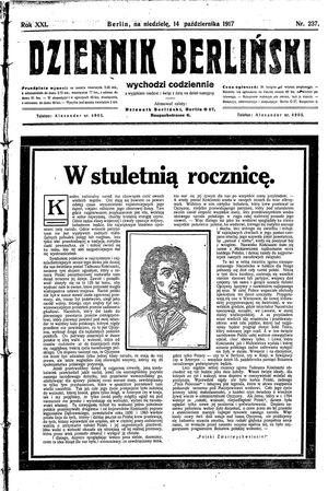 Dziennik Berliński vom 14.10.1917