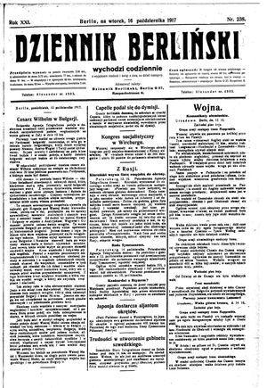 Dziennik Berliński vom 16.10.1917