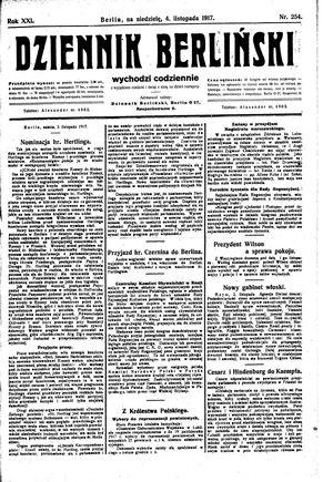 Dziennik Berliński vom 04.11.1917