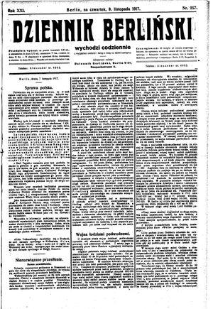 Dziennik Berliński vom 08.11.1917