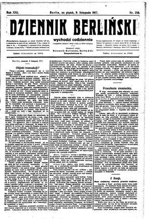 Dziennik Berliński vom 09.11.1917