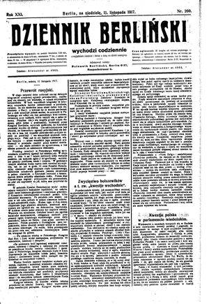 Dziennik Berliński vom 11.11.1917