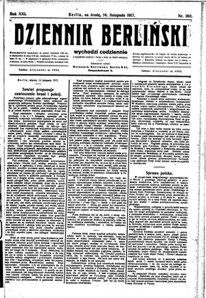 Dziennik Berliński vom 14.11.1917